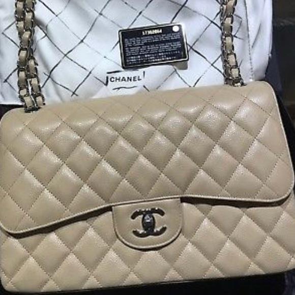347921e5b259 CHANEL Bags | Flap Jumbo Bag Beige Classic Caviar | Poshmark